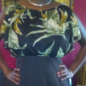 Brown Flower Dress